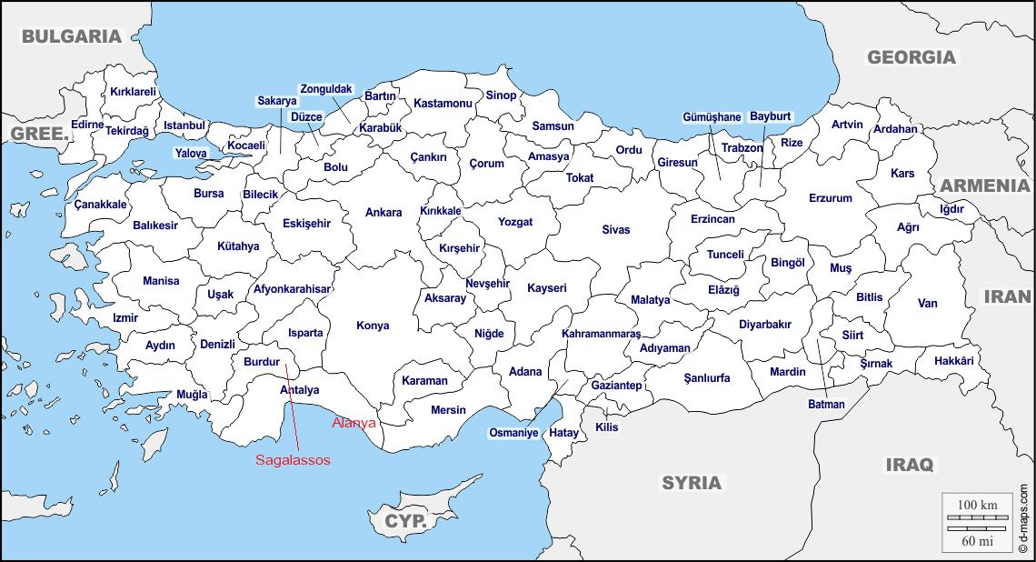 Turkije kaart editie 05
