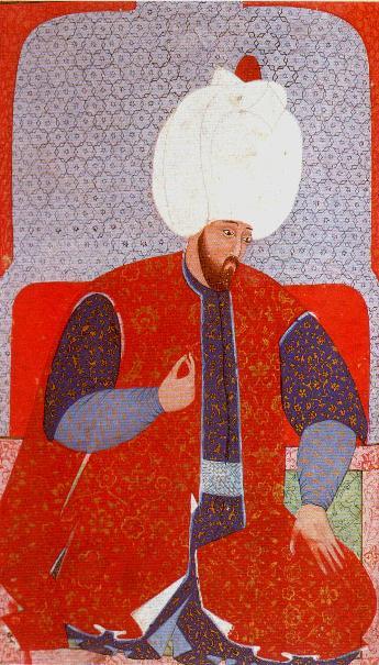 Suleyman de Grote in kaftan van zijde