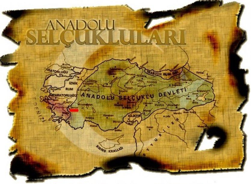 Oude kaart sultanaat van Rum