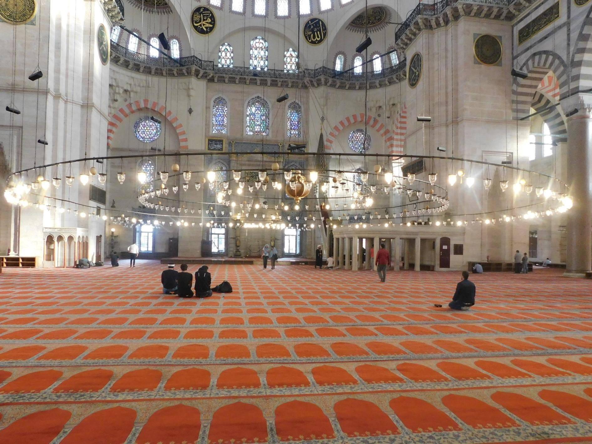 Interieur Süleymaniye moskee