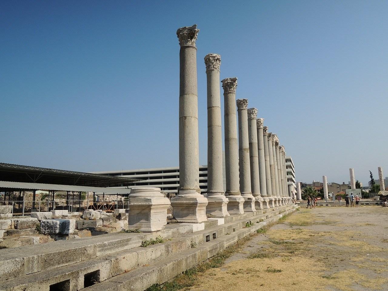 Agora, pilaren, Izmir