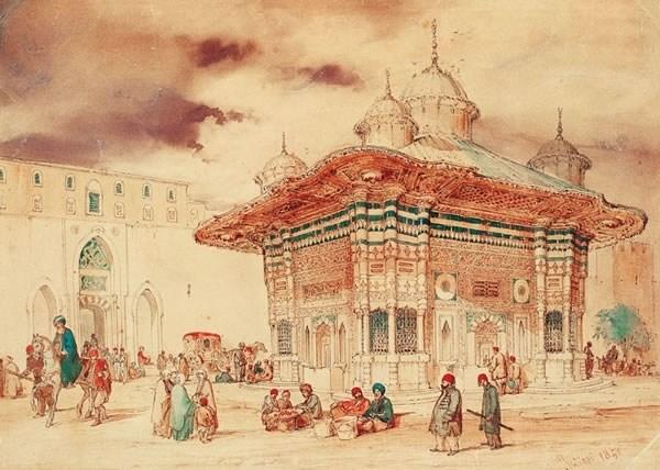 Fontein van Ahmed III in Istanbul