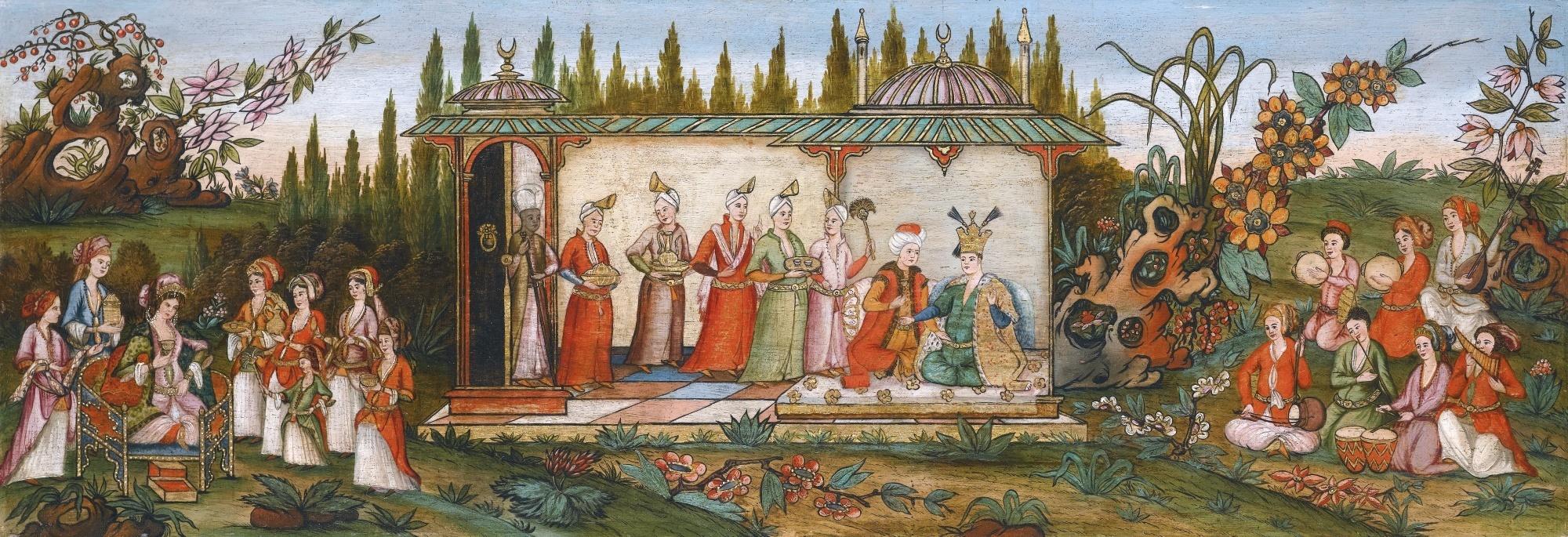 Harem in de tuin, schilderij