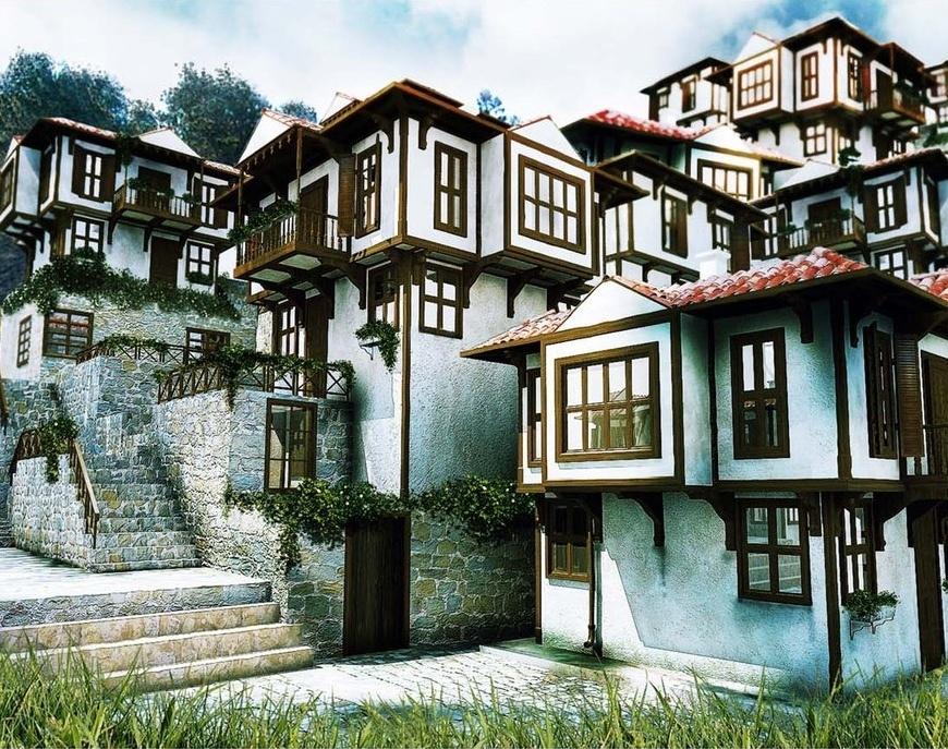 Traditionele Ottomaanse huizen